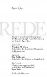 Rede Dr. Friedrich Joseph Haass-Preis