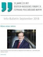 Info-Bulletin September 2018